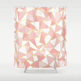 Ab Out Blush Gold 2 Shower Curtain