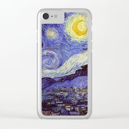 Vincent Van Gogh Starry Night Clear iPhone Case