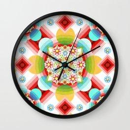 Millefiori Ombre Geometric Wall Clock