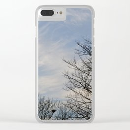 Blue Sky and Trees Clear iPhone Case