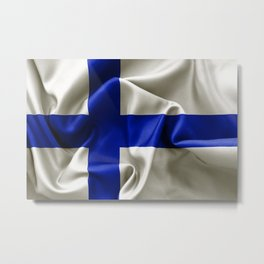 Finland Flag Metal Print