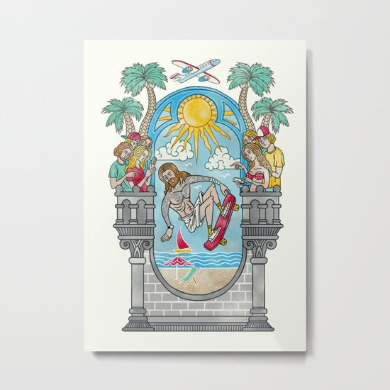 The Lord of the Board Metal Print