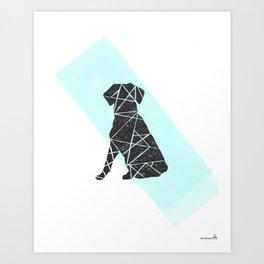 Geometic dog Art Print