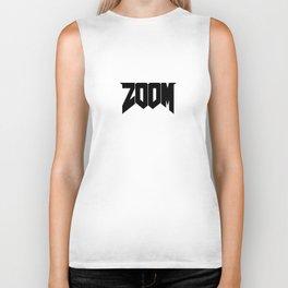 ZOOM Logo Black Biker Tank