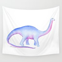 dinosaur Wall Tapestries featuring Dinosaur by Susan Windsor