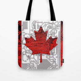 circuit board Canada (Flag) Tote Bag
