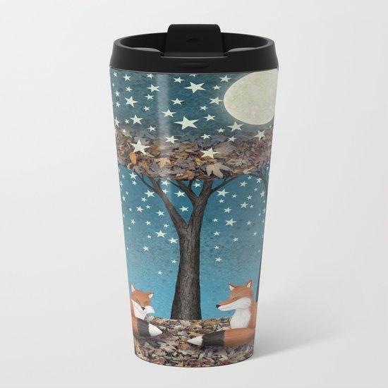 starlit foxes Metal Travel Mug