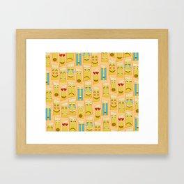 Tiki Emojis by Naoma Serna Framed Art Print