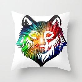 Wolf Universe Throw Pillow