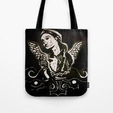 Black (Wings/Angel) Tote Bag