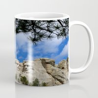 rushmore Mugs featuring Mount Rushmore by Christiane W. Schulze Art and Photograph