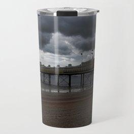 Dark Clouds Over Paignton Pier Travel Mug