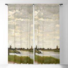 Claude Monet - Windmills Near Zaandam Blackout Curtain