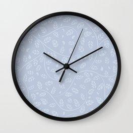 Lavender Vine and Leaf Organic Pattern Wall Clock