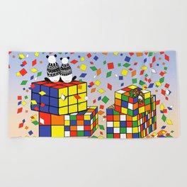 Rubix Panda Beach Towel