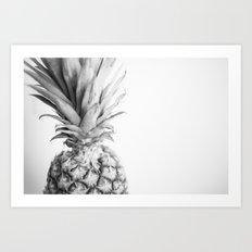 Black & White Pineapple 3 Art Print