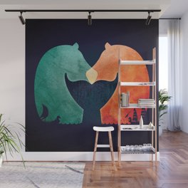 A Tail of Two Horses Wall Mural