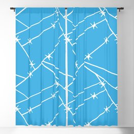 Blue Wren Barbed Wire Blackout Curtain