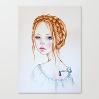 doll Canvas Prints featuring Doll by Black Fury