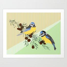 two birds in harmonie Art Print