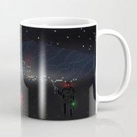 fallout Mugs featuring Fallout Pixels by Kazisvet