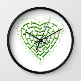 Lost in the Love Maze Wall Clock