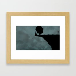 the last one standing on the edge of the world Framed Art Print