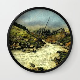Mill Valley Stream Roar Wall Clock