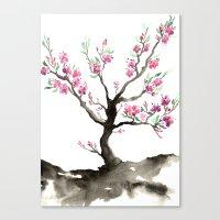 sakura Canvas Prints featuring Sakura by Brazen Edwards