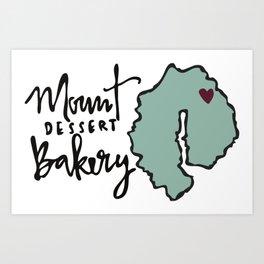 Mount Dessert Bakery Logo Art Print
