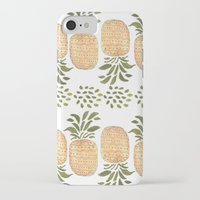 pineapples iPhone & iPod Cases featuring Pineapples by Bouffants and Broken Hearts