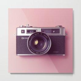 #04_Yashica electro 35#pink#film#effect Metal Print