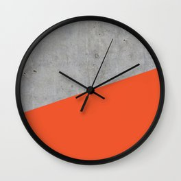 Concrete and Flame Color Wall Clock