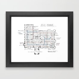 Haunting of Hill House Blueprint Framed Art Print