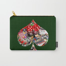 Spade Playing Card Shape - Las Vegas Icons Carry-All Pouch