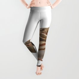 Rustic Bunting Bird Vector Isolated Leggings