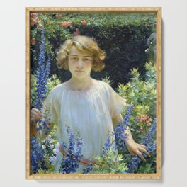 Charles Courtney Curran Betty Gallowhur Serving Tray