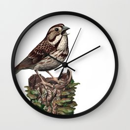 Song Sparrow Wall Clock