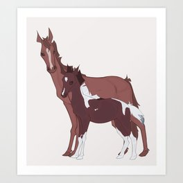 Mother Horse and Foal Art Print