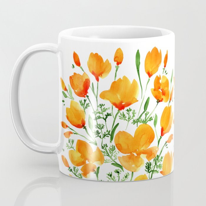 Watercolor California poppies Coffee Mug