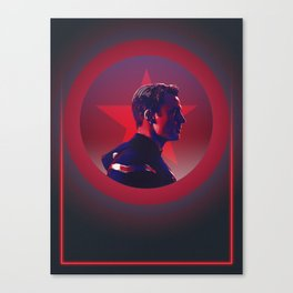 CaptainAmerica 80's Alternative Character Poster Canvas Print