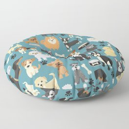 Cute Puppies Little Dogs Floor Pillow