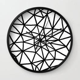 black and white triangle web Wall Clock