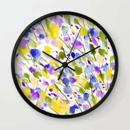 Wild Nature (Yellow and Blue) Wall Clock