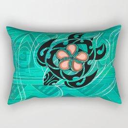 Vintage Hawaiian Honu Decor Rectangular Pillow