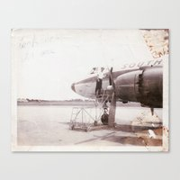 plane Canvas Prints featuring plane by Beth Gilmore