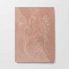 Engraved Nude Line II Metal Print