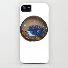 Magical Autumn Hedgehog With Forest Treasures iPhone Case