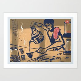 Tapri - Indian Tea Stall Art Print