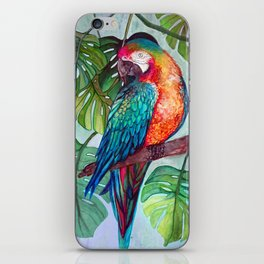 Hyacinth Parrot in the Jungle iPhone Skin